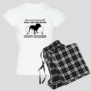 Staffy mommy designs Women's Light Pajamas
