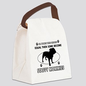Staffy mommy designs Canvas Lunch Bag