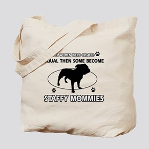 Staffy mommy designs Tote Bag