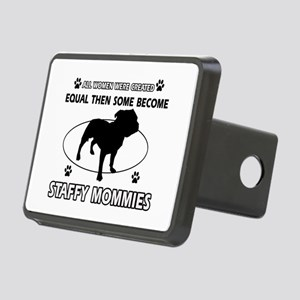 Staffy mommy designs Rectangular Hitch Cover