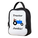 Blue Tractor Junkie Neoprene Lunch Bag