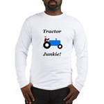 Blue Tractor Junkie Long Sleeve T-Shirt