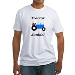 Blue Tractor Junkie Fitted T-Shirt