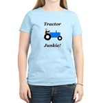 Blue Tractor Junkie Women's Light T-Shirt