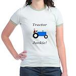 Blue Tractor Junkie Jr. Ringer T-Shirt