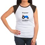 Blue Tractor Junkie Women's Cap Sleeve T-Shirt