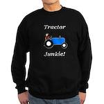 Blue Tractor Junkie Sweatshirt (dark)