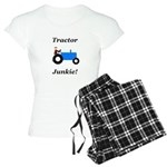 Blue Tractor Junkie Women's Light Pajamas
