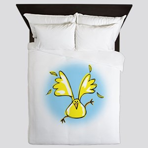 Sprung Spring chicken Queen Duvet