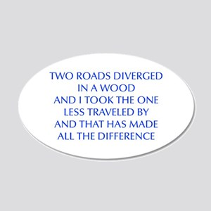TWO-ROADS-OPT-BLUE Wall Decal