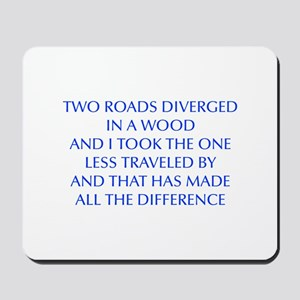 TWO-ROADS-OPT-BLUE Mousepad
