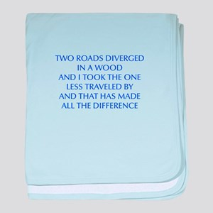 TWO-ROADS-OPT-BLUE baby blanket