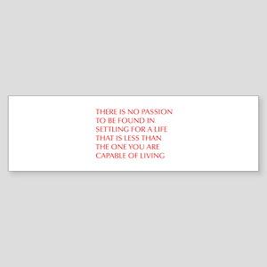 there-is-no-passion Bumper Sticker