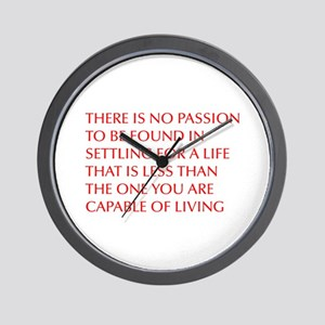 there-is-no-passion Wall Clock