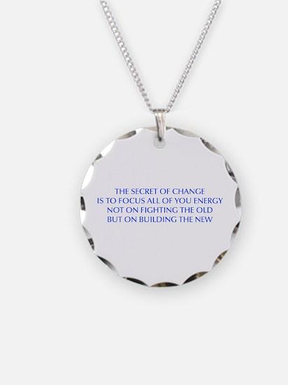 SECRET-OF-CHANGE-OPT-BLUE Necklace