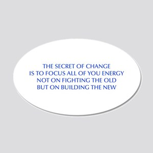 SECRET-OF-CHANGE-OPT-BLUE Wall Decal