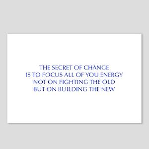 SECRET-OF-CHANGE-OPT-BLUE Postcards (Package of 8)