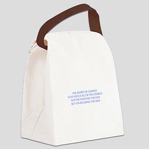 SECRET-OF-CHANGE-OPT-BLUE Canvas Lunch Bag