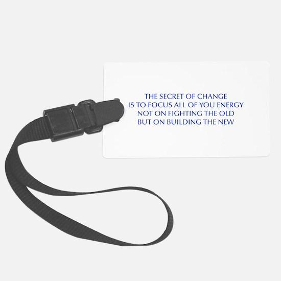 SECRET-OF-CHANGE-OPT-BLUE Luggage Tag