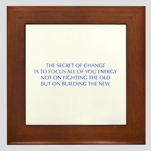 SECRET-OF-CHANGE-OPT-BLUE Framed Tile
