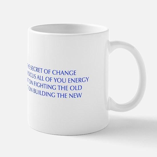SECRET-OF-CHANGE-OPT-BLUE Mugs