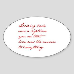 looking-back-love jane red Sticker