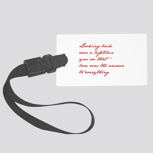 looking-back-love jane red Luggage Tag