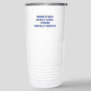 insane blue clean Travel Mug
