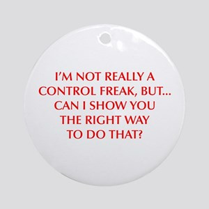 CONTROL-FREAK-OPT-RED Ornament (Round)