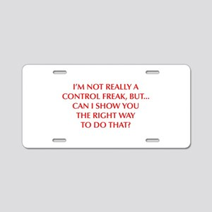 CONTROL-FREAK-OPT-RED Aluminum License Plate
