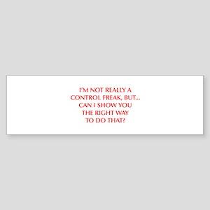 CONTROL-FREAK-OPT-RED Bumper Sticker