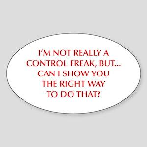 CONTROL-FREAK-OPT-RED Sticker
