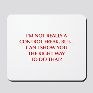 CONTROL-FREAK-OPT-RED Mousepad