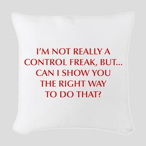 CONTROL-FREAK-OPT-RED Woven Throw Pillow