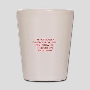 CONTROL-FREAK-OPT-RED Shot Glass