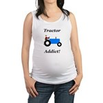 Blue Tractor Addict Maternity Tank Top