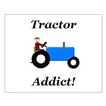 Blue Tractor Addict Small Poster