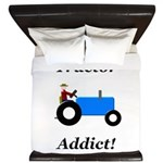 Blue Tractor Addict King Duvet