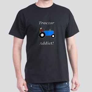 Blue Tractor Addict Dark T-Shirt