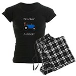 Blue Tractor Addict Women's Dark Pajamas