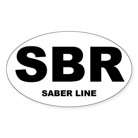 Saber Line Shirts and Gifts! Oval Sticker
