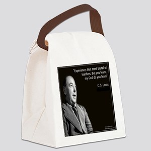 CS Lewis My God Quote Canvas Lunch Bag