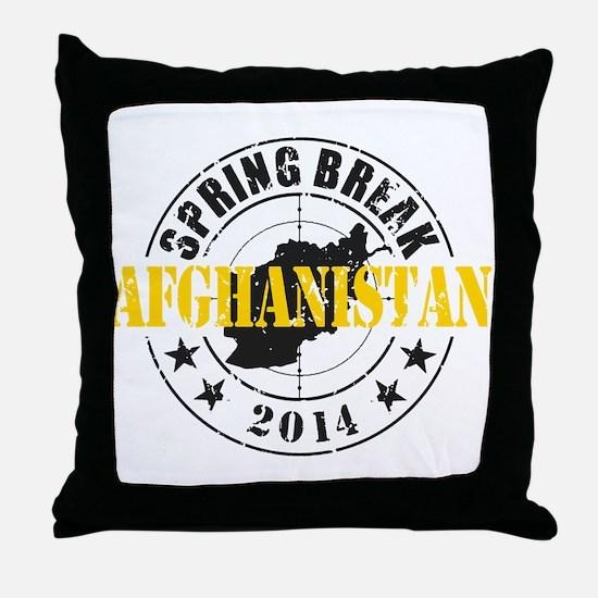 Spring Break Afghanistan 2014 Throw Pillow
