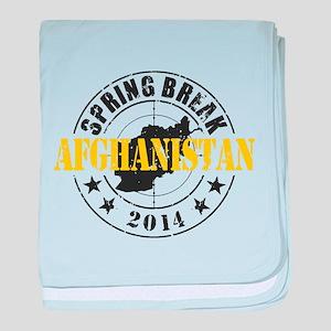Spring Break Afghanistan 2014 baby blanket