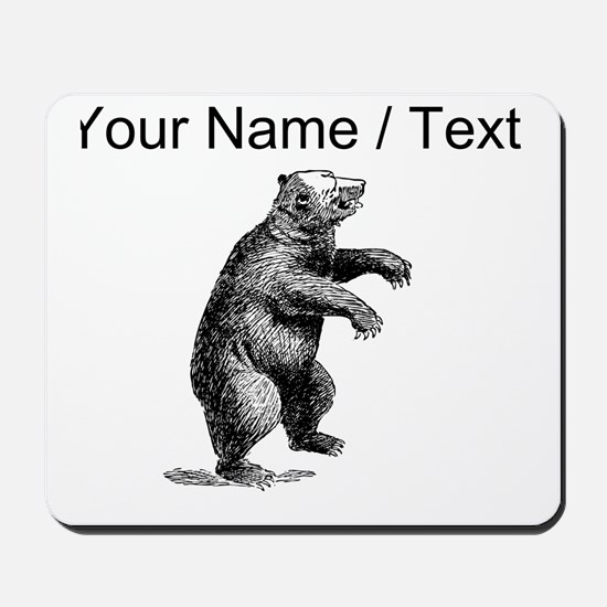 Custom Grizzly Bear Sketch Mousepad