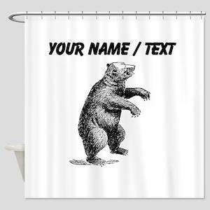 Custom Grizzly Bear Sketch Shower Curtain