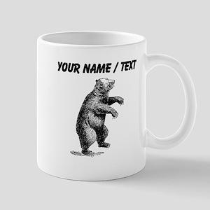 Custom Grizzly Bear Sketch Mugs