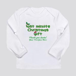 Personalize Last Minute Christmas Gift! Long Sleev