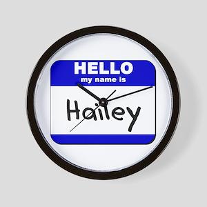 hello my name is hailey  Wall Clock