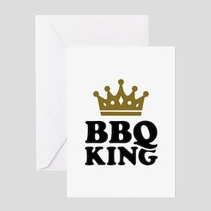 BBQ King crown Greeting Card